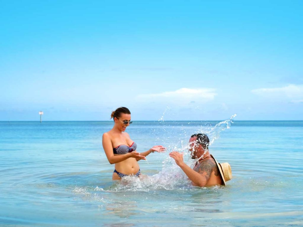 Couple at the beach in Key West